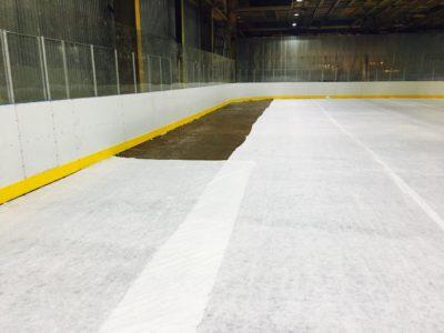 Капительный ремонт хоккейной площадки ДЮСШ №1 города Омска. Июль 2019.
